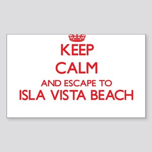 Keep calm and escape to Isla Vista Beach C Sticker