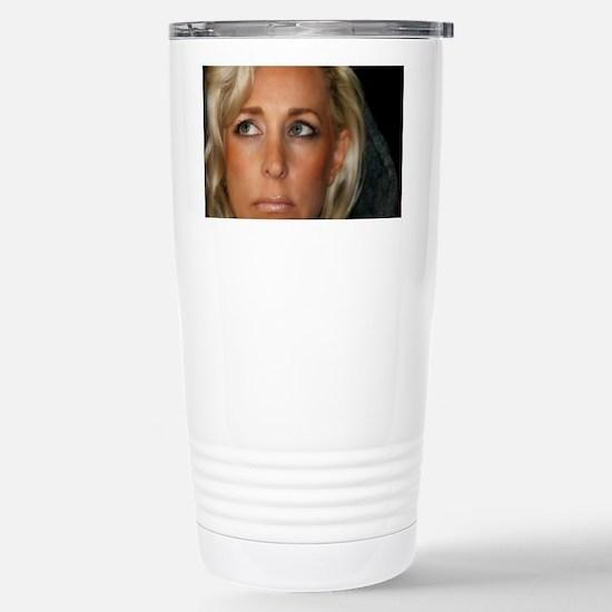 Blond Woman Stainless Steel Travel Mug