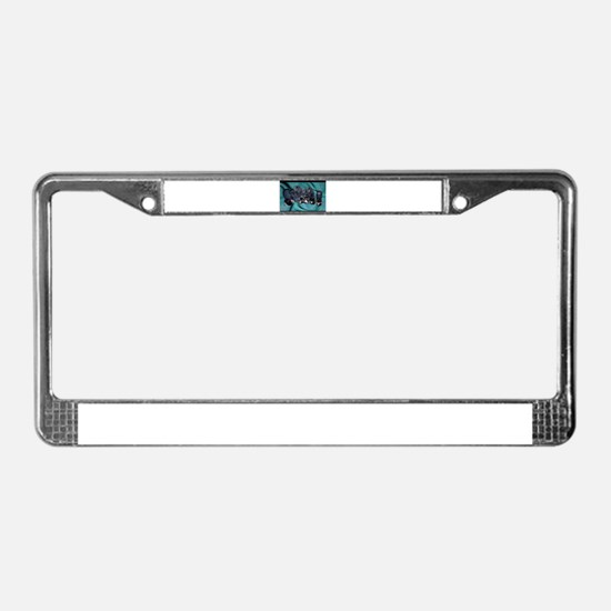 sleeping puppies photograph License Plate Frame