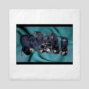 sleeping puppies photograph Queen Duvet
