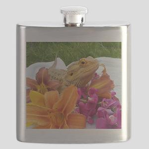 Floral beardie Flask