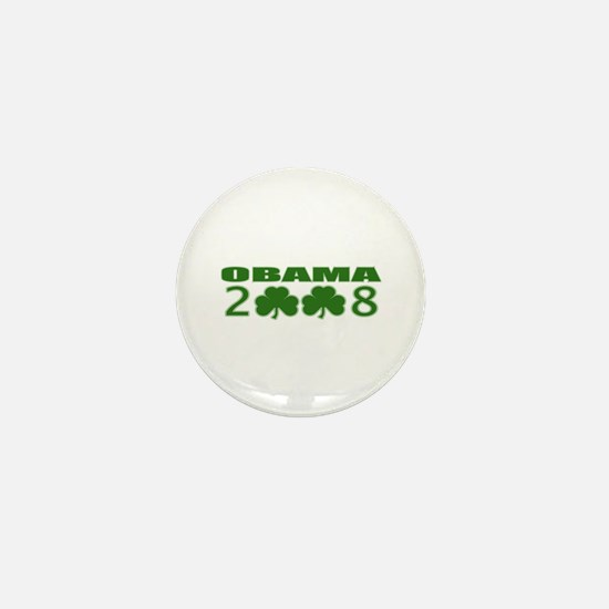 Obama 2008 Shamrocks Mini Button