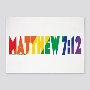 Matthew 7:12 5'x7'Area Rug