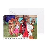 Trick or Treat Doxies Greeting Card