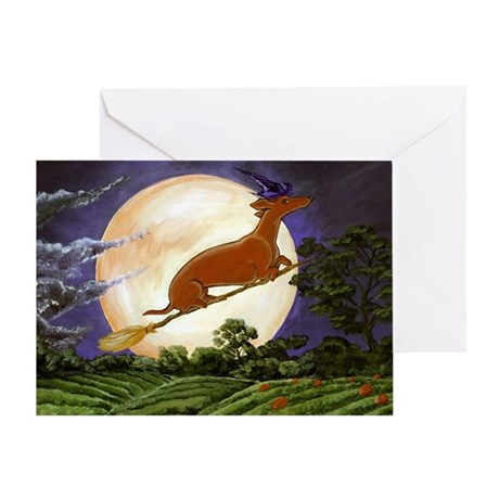 Dachshund Witch Greeting Card