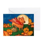 Lil Devil Doxie Greeting Cards (Pk of 10)