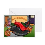 Happy Halloweenie (BT) Greeting Cards (Pk of 20)