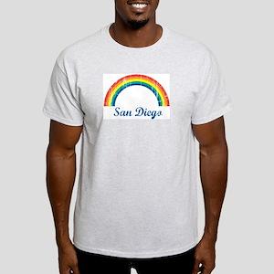 San Diego (vintage rainbow) Light T-Shirt