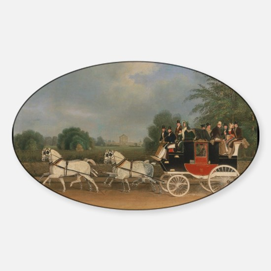 Horses carriages Sticker (Oval)