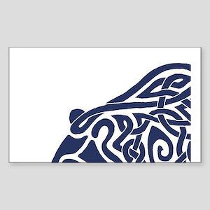 Bear Knotwork Blue Sticker