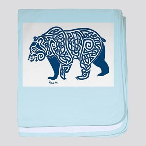 Bear Knotwork Blue baby blanket