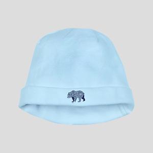 Bear Knotwork Blue baby hat