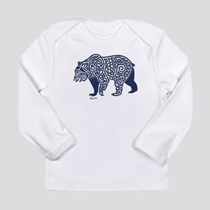 Bear Knotwork Blue Long Sleeve T-Shirt