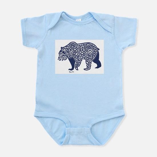 Bear Knotwork Blue Body Suit