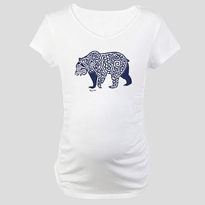 Bear Knotwork Blue Maternity T-Shirt