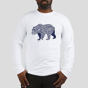 Bear Knotwork Blue Long Sleeve T-Shirt