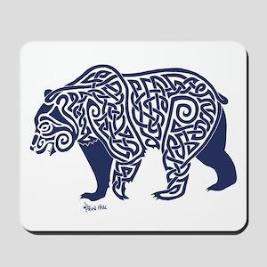 Bear Knotwork Blue Mousepad