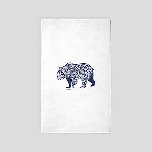 Bear Knotwork Blue Area Rug