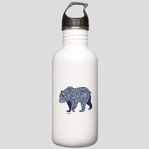 Bear Knotwork Blue Stainless Water Bottle 1.0L