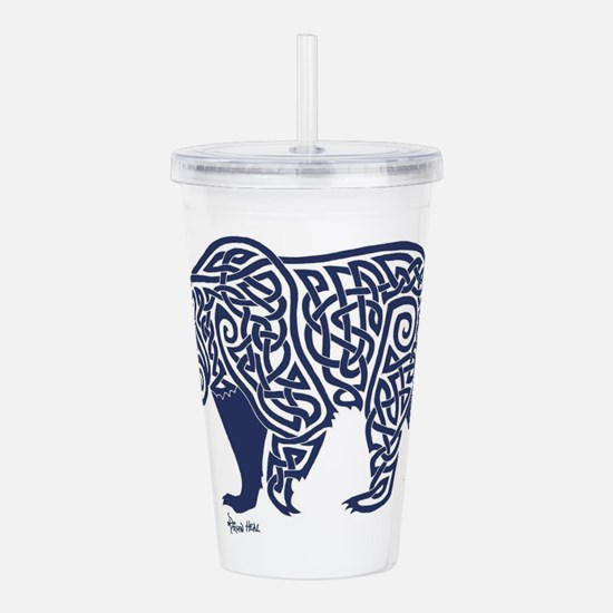 Bear Knotwork Blue Acrylic Double-wall Tumbler