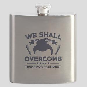 Trump We Shall Overcomb Flask