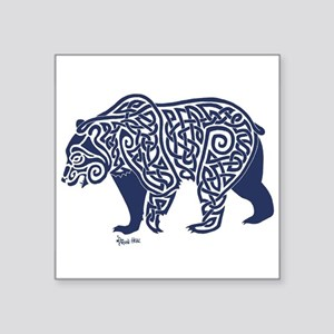 Bear Knotwork Blue Sticker