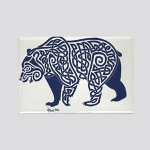 Bear Knotwork Blue Magnets