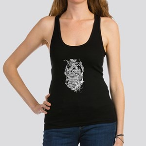 Snake Dragon (white) Racerback Tank Top