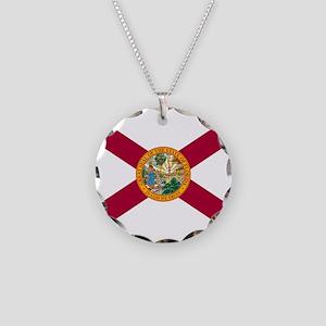 FLORIDA FLAG Necklace Circle Charm