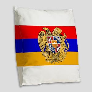 ARMENIA FLAG Burlap Throw Pillow