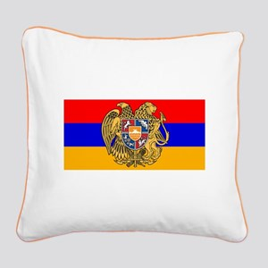 ARMENIA FLAG Square Canvas Pillow