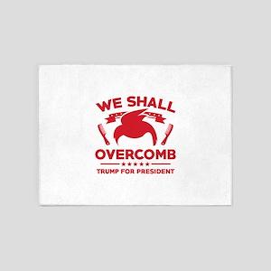 Trump We Shall Overcomb 5'x7'Area Rug