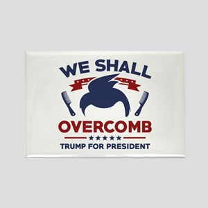 Trump We Shall Overcomb Rectangle Magnet