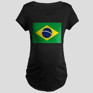 Brazil Flag Maternity T-Shirt