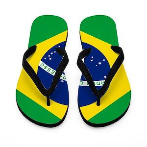 9789048c3 Brazil Flip Flops - CafePress