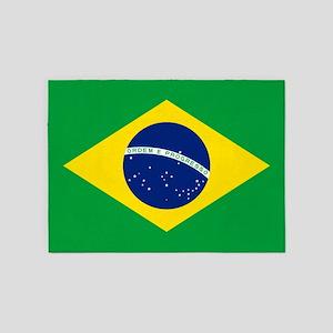Brazil Flag 5'x7'Area Rug