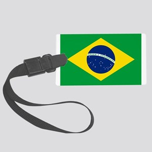 Brazil Flag Large Luggage Tag