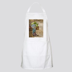 flower western country cowboy boots Apron