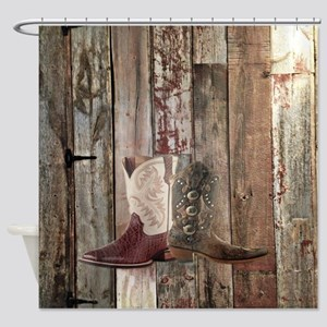 vintage western country cowboy  Shower Curtain