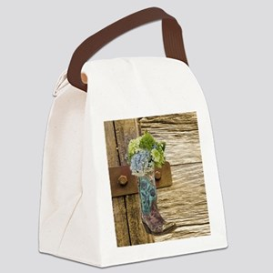 flower western country cowboy boo Canvas Lunch Bag