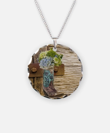 flower western country cowbo Necklace