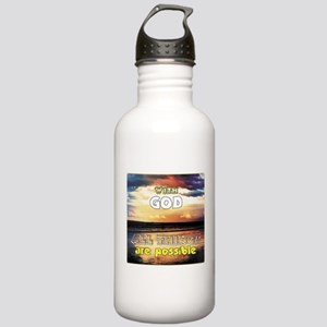 With God All Things ar Stainless Water Bottle 1.0L