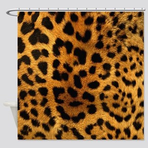 girly trendy leopard print Shower Curtain