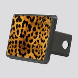 girly trendy leopard print Rectangular Hitch Cover