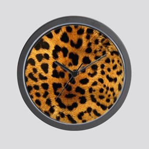girly trendy leopard print Wall Clock