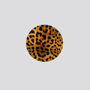 girly trendy leopard print Mini Button