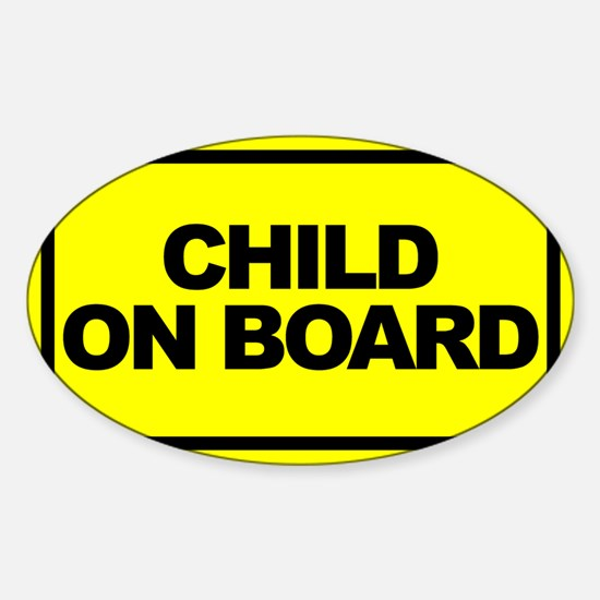 Cute Child board Sticker (Oval)