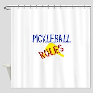 Pickleball Rules Shower Curtain