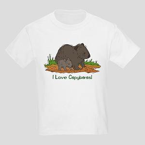 I Love Capybaras 2 Kids Light T-Shirt