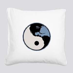 Harmony With Earth Square Canvas Pillow